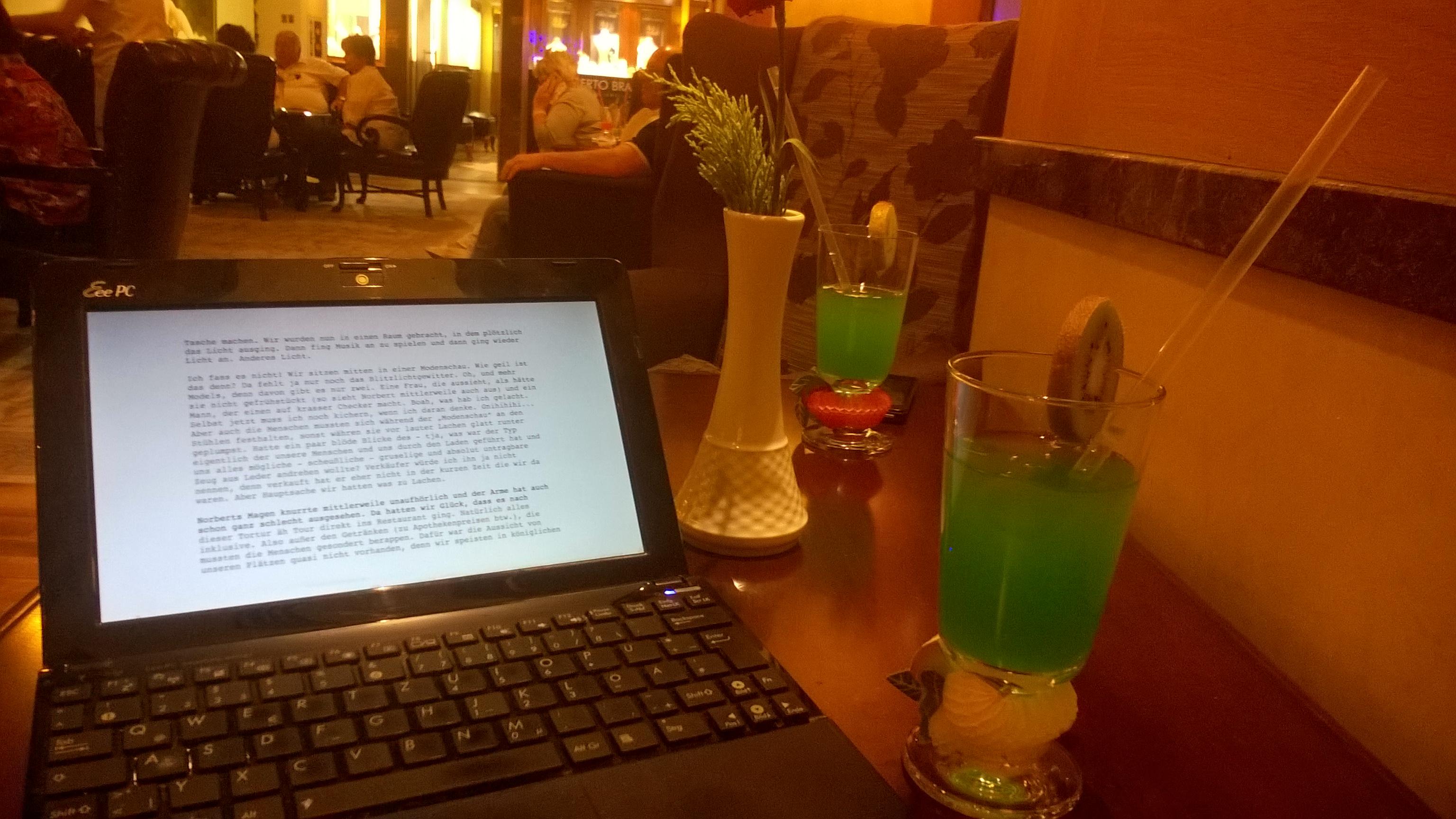 Blogbeitrag vorbereiten und Bar-Beobachtungen machen